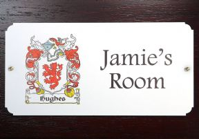 Family Crest Wall or Door Plaque PERSONALISED, ref FCDP